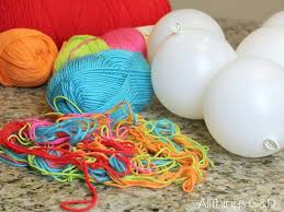 Make Decorative String Balls Best Yarn Ball Ornaments All Things GD