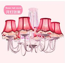 small pink lamp shades for chandeliers design ideas