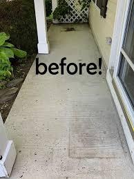porch floor with concrete paint
