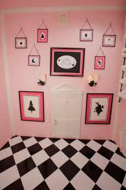 This is our pink Alice in Wonderland room. It made for a very unique nursary