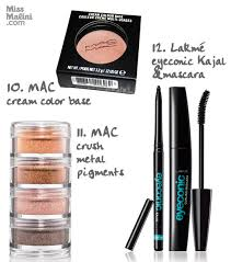 top 20 items in missmalini s makeup kit