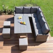 garden furniture:Corner Sofa Garden Furniture Wicker Uk Acadianaug Rattan  Table Only Cushions And Bench