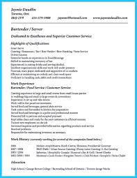 Resume Templates Bartending Fantastic Bartender Template With