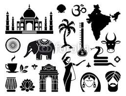 Traditional Symbols Traditional Symbols Of India Simple Icons 66533912 Poster 110 X