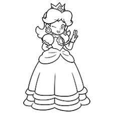 Small Picture 25 Best Princess Peach Coloring Pages For Your Little Girl