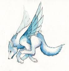 white wolf with wings drawing. Winged White Wolf Drawings For With Wings Drawing