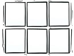 ic book template creator strip six grey panels box halftone cartoon stock photo ilration maker