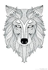 Wolf Coloring Pages To Print Wolf Coloring Pages For Adults Fresh