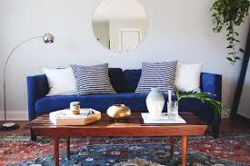 Peacock Living Room Decor Beautiful Denim Sofa With Additional Home Decoration Ideas Idolza