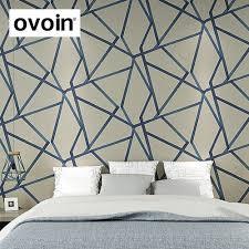 Aan De Verkoop Wit Teal Beige Gold Geometrische Behang Moderne