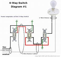 how to wire a way switch 4 way switching diagram
