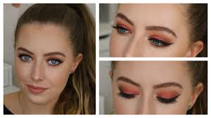 red smokey eye makeup tutorial for blue eyes beauty district you
