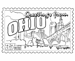 Small Picture USA Printables Ohio State Stamp US States Coloring Pages