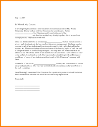 6 Letter Of Recommendation From Teacher For Student Adjustment Letter