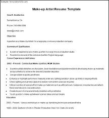 pics of rel makeup artist resume sle