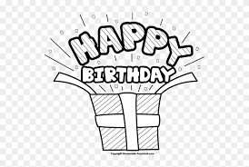 birthday present clip art black and white. Brilliant Art Stunning Idea Happy Birthday Clipart Black And White  Present  With Clip Art D