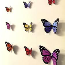 3d Butterfly Wall Decor 3d Butterfly Wall Art Roselawnlutheran
