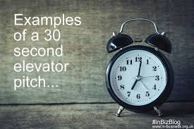 30 Sec Elevator Speech Elevator Pitch Examples For Business 30 60 Second Examples