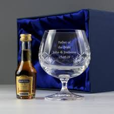 personalised lead crystal brandy gift set a thumbnail to enlarge