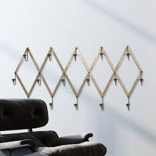 Silver Wall Coat Rack 100 in L Gun Metal Silver Stainless Steel Wall Coat Rack100 The 15