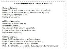 Formal Letters Giving And Requesting Information Stanagexpert Com
