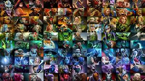 dota 2 poster all heroes color sorted dota2