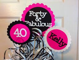 40th Birthday Decorations For Her 40th Birthday Decorations 3 Piece Centerpiece Sign Set With