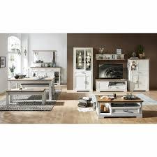 Wohnzimmer Landhaus Anrichte Weiß Eiche Highboard Esszimmer