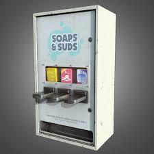 Soap Vending Machine Adorable 48D Model Laundromat Soap Dispenser PBR Game Ready VR AR Low