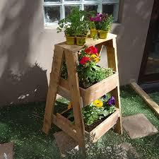 diy herb planter box pallet planter stand pallet outdoor furniture outdoor plant stand ideas