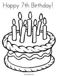 Small Picture Birthday Cake Coloring Pages 3rd Birthday Cake Coloring Printable