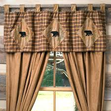 black bear curtains green plaid curtains with plain valance google search black bear lodge shower curtain