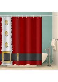 merry santa waterproof bathroom shower curtain 19