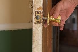 person locking door. Take Off The Door Knob Person Locking A