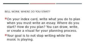 Planning The Informative Essay