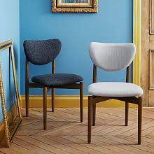 modern upholstered dining room chairs west elm dining chair