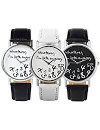 amazon com geneva wrist watches watches clothing shoes 3pcs new arrival leather strap watch whatever i am late anyway women watch geneva watches quartz watch