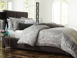 comforter sets grey and white comforter from jaclyn smith infuses your bedroom with pure elegance