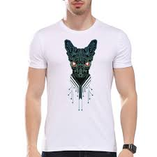 Men Clothing Tees Cheap Men S Ic Robot Dog Print T Shirt Mens Cheapest Place To Print In Color L
