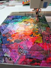 6297 best Fiber Art images on Pinterest | Textiles, Jellyroll ... & This confetti art quilt is an explosion of Adamdwight.com