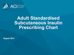 Top Charts August 2013 Subcutaneous Insulin Chart