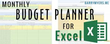 Free Budget Planners Monthly Budget Planner For Excel Free Download