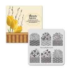 <b>BeautyBigbang</b> 1Pc <b>6*6cm</b> Square Plaid Flower Pattern <b>Nail</b> Art ...