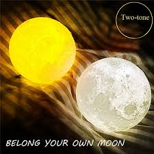 15cm 3d magical two tone moon lamp usb charging luna led night light touch sensor giftis diversiform newchic