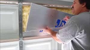 insulating garage doorGarage Door Insulation and Adjustment from Scratch Part 1 of 3