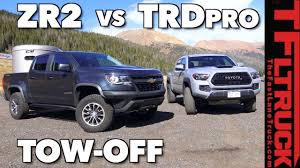 Chevy Colorado ZR2 vs Toyota Tacoma TRD Pro Towing Comparison: How ...