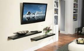 bedroom tv wall wall mount tv shelf
