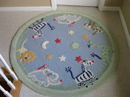 pottery barn round rug childs