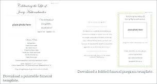 Booklet Program Template Mass Booklet Template