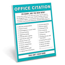 fun things for the office. office citation notepad fun things for the e